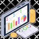 Web Analytics Financial Infographic Data Visualization Icon