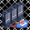 Data Display Data Visualization Server Room Icon