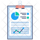 Data Visualization Report Icon
