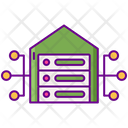 Data Warehouse Server House Data Storage House Icon