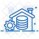 Data Warehouse Big Data Datacenter Icon