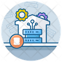 Data Warehousing Data Storage Data Management Icon