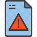 Warning Data Warning Error File Icon