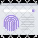 Database Fingerprint Finger Icon