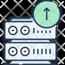 Database Upload Data Upload To Server Icon