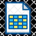 Database Document Excel Icon