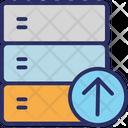 Database Rack Uploading Server Uploading Icon