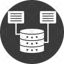 Database Datacenter Shared Server Icon