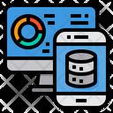 Web Server Data Graph Icon