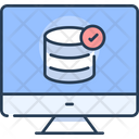 Database Check Data Storage Checked Icon