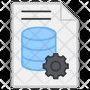 Database Document Database Document Setting Database Document Management Icon