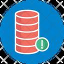 Database Error Database Failure Database Warning Icon