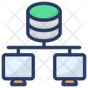 Database Hosting Server Hosting Database Networking Icon