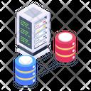 Server Hosting Database Hosting Data Hosting Icon