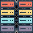 Database Interconnected Database Interconnected Icon