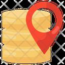 Database Location Server Location Server Rack Icon