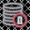 Lock Database Storage Icon