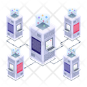 Server Network Server Room Database Network Icon
