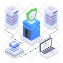 Database Protection Servers Safety Servers Security Icon