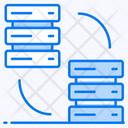 Database Replication Database Transfer Database Swipe Icon