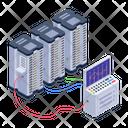 Server Hosting Database Hosting Database Room Icon