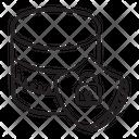 Database Safety Database Antivirus Database Lock Icon