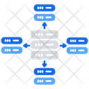 Database Server Data Path Data Storage Icon