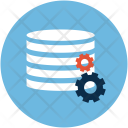 Database With Gears Icon