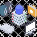Database Storage Database Computing Database Technology Icon