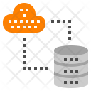 Database synchronize with cloud Icon
