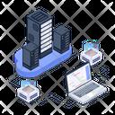 Data Display Server Room Data Hosting Icon