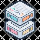 Big Data Datacenter Business Intelligence Icon