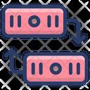 Dataserver Transfer Data Sync Data Sharing Icon