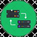 Dataserver Transfer Dataserver Migration Datacenter Transformation Icon