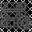 Dataserver Virus Dataserver Bug Datacenter Icon