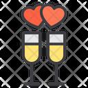 Celebrate Love Celebrate Wine Glass Icon