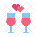 Date Dinner Date Champagne Icon
