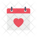Date Love Heart Icon