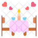 Date Night Dinner Table Icon