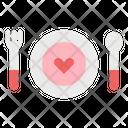 Dinner Love Dish Icon