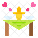 Dinner Table Date Icon