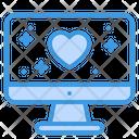 Computer Screen Love Computer Monitor Icon