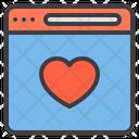 Website Love Browser Love Website Icon