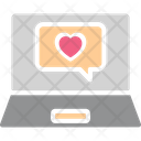 Heart Laptop Love Chatting Icon