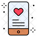 Smartphone Dating App Heart Icon