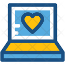 Laptop Chatting Lover Icon