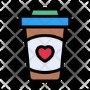 Coffee Beverage Love Icon
