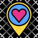 Loacation Love Heart Icon