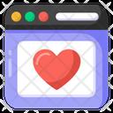 Favorite Website Romantic Website Dating Web Icon