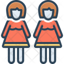 Daughters Female Child Girl Icon